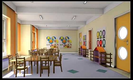 幼儿园教室室内设计图片展示图片