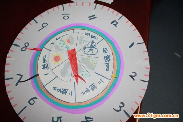 儿童手工制作钟表步骤