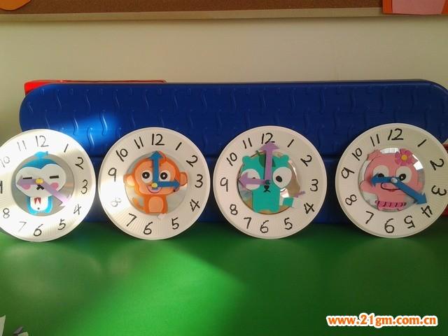儿童动物纸盘画