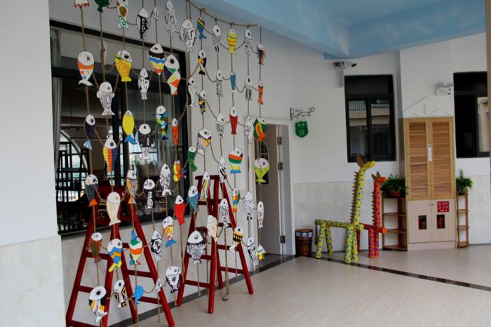 伟才设计案例-广东中山东升qiangui777幼儿园美术室门口图片