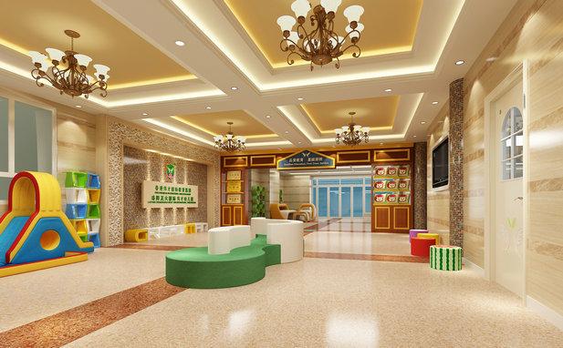 洛阳正大国际伟才幼儿园接待大厅效果图