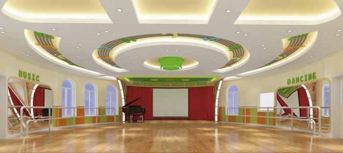吉安汇丰御园伟才幼儿园——音体室效果图