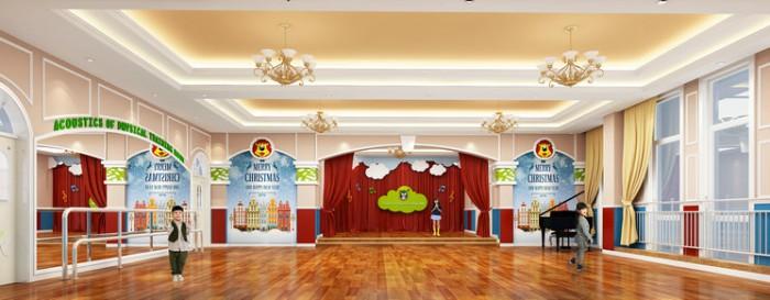 古田凤凰城(国际)伟才幼儿园——音体室效果图
