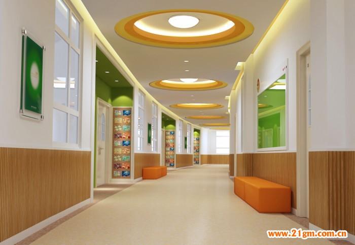 合川江润伟才幼儿园———走廊效果图