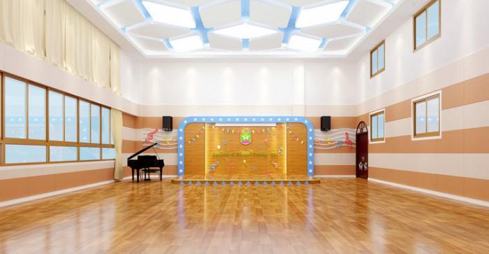 大渡口伟才幼儿园——音体室设计效果图