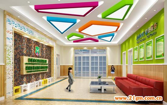 花溪美成新都伟才幼儿园———接待大厅设计效果图