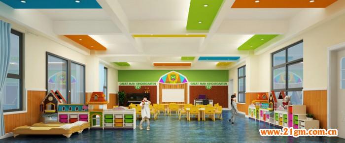 花溪美成新都伟才幼儿园———活动室设计效果图