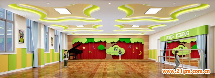 东湖新城伟才幼儿园-——音体室设计效果图