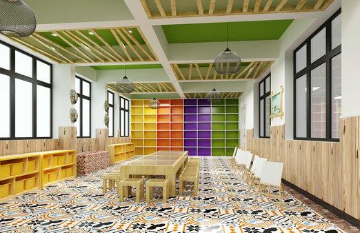 裕龙幼儿园——美术室效果图