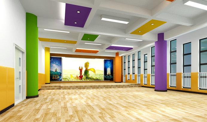 裕龙幼儿园——音体室效果图