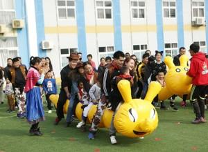 """山东东营科达伟才幼儿园:""""快乐你我,万圣大狂欢""""亲子运动会"""