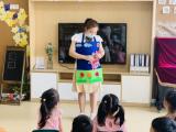 河南平顶山蓝湾翠园伟才幼儿园特色课:全英围裙剧—口袋绘本